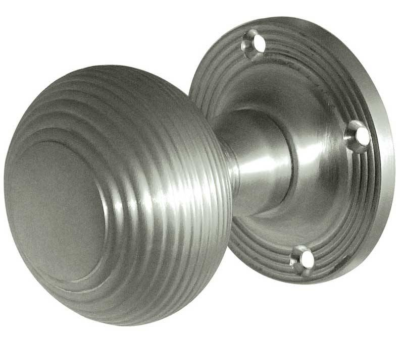 Frelan JR6M Reeded Mortice Knobs