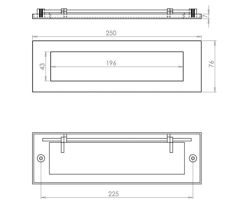 250X76mm Letterplate PC