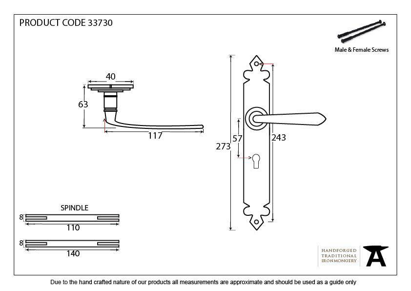 Cromwell Sprung Lever Lock Set
