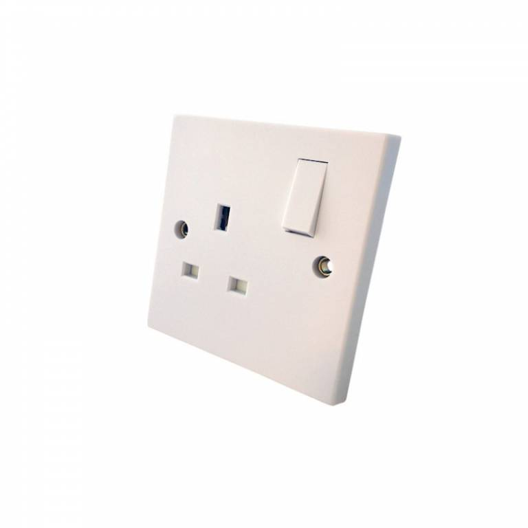Asta Approved 1 Gang  Flush Switched Socket