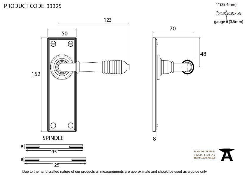 Polished Nickel Reeded Lever Latch Set